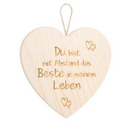 """Spruchschild Herz – """"Du bist …"""""""