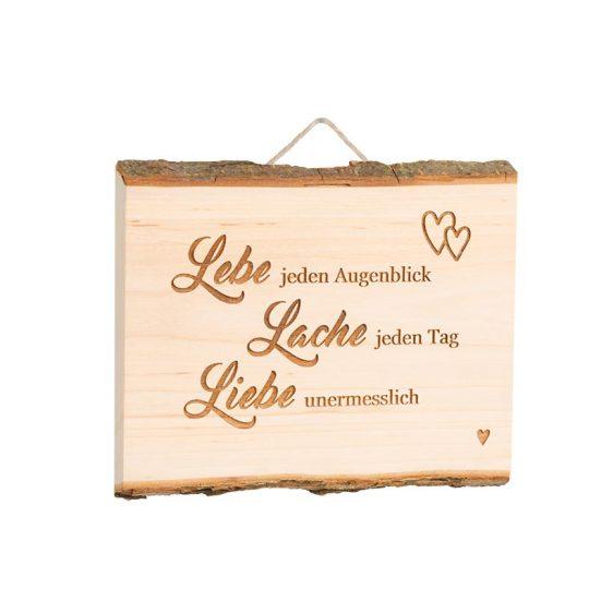 Spruchschild Brett Lebe Lache Liebe