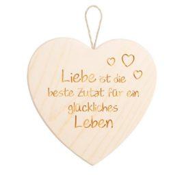 """Spruchschild Herz – """"Liebe ist die beste Zutat …"""""""